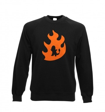 Orange Charmander Silhouette sweatshirt