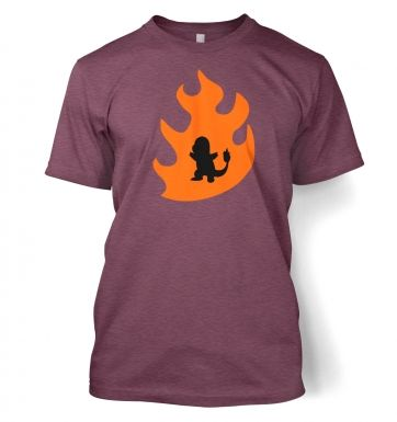 Orange Charmander Silhouette t-shirt