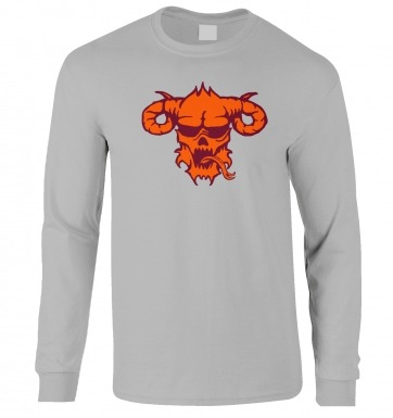 Orange Demon's Head long-sleeved t-shirt