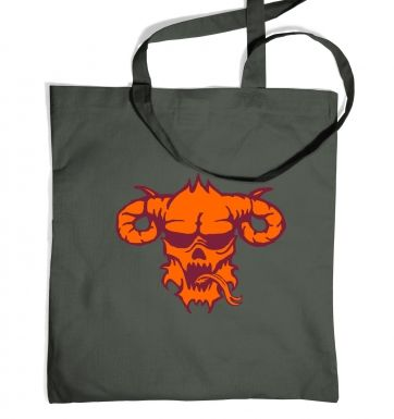 Orange Demons Head tote bag