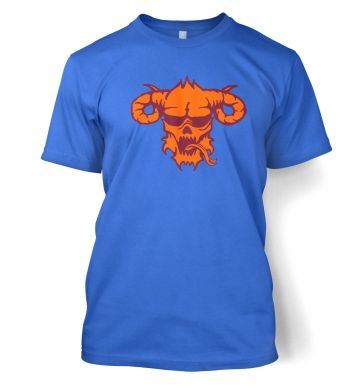 Orange Demon's Head men's t-shirt