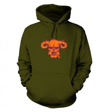Orange Demon's Head hoodie