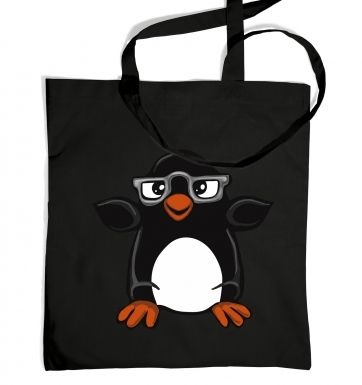 Penguin With Glasses tote bag