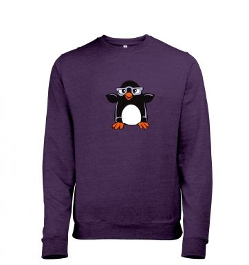 Penguin with Glasses heather sweatshirt