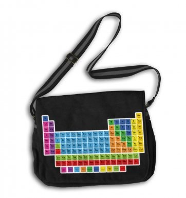Periodic Table messenger bag