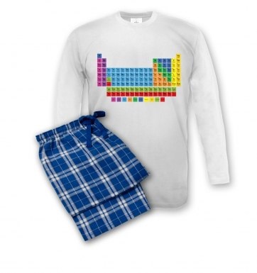 Periodic Table pyjamas (men's)