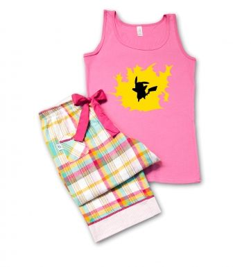 Premium Pickachu Silhouette Ladies' Pyjamas