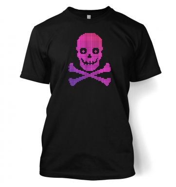 Pink Pixelated Skull t-shirt