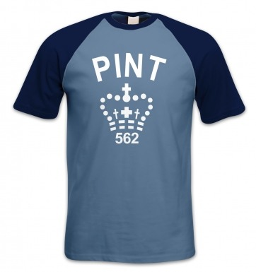 Pint short-sleeved baseball t-shirt