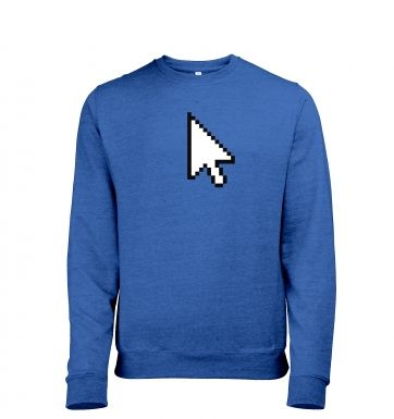 Pixelated Cursor heather sweatshirt