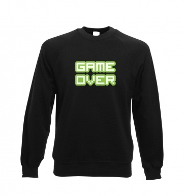 Pixelated Game Over sweatshirt