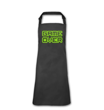Pixelated Game Over apron