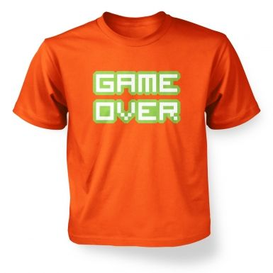 Pixelated Game Over  kids t-shirt