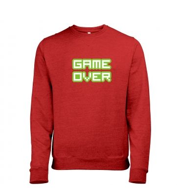 Pixelated Game Over heather sweatshirt