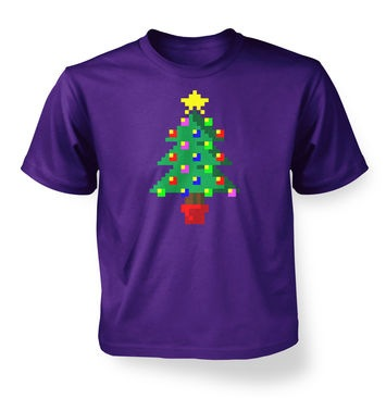 Pixellated Christmas Tree kids' t-shirt