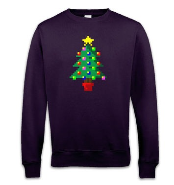Pixellated Christmas Tree sweatshirt