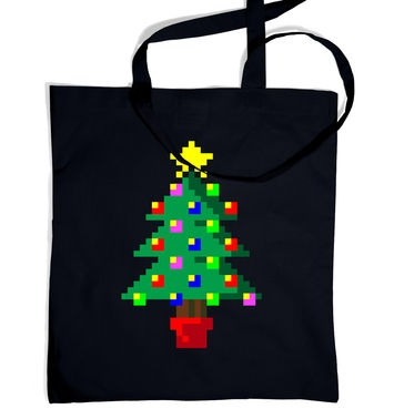 Pixellated Christmas Tree tote bag