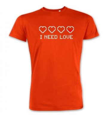 Pixellated I Need Love  premium t-shirt