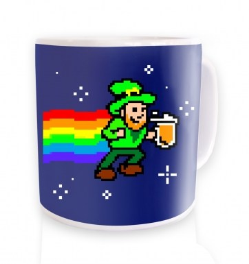 Pixellated Leprechaun mug