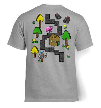 Pixel World Play Mat (Backprint) t-shirt