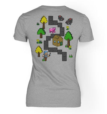Pixel World Play Mat (Backprint) women's t-shirt