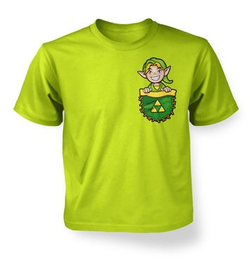 Pocket Hyrule Warrior (Green) kids t-shirt