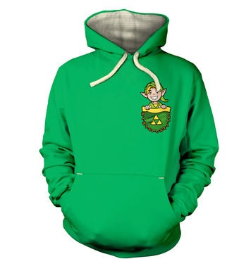Pocket Hyrule Warrior (Green) premium hoodie