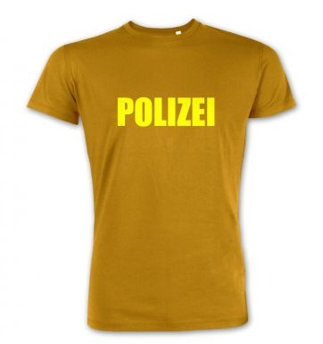 POLIZEI (yellow)  premium t-shirt