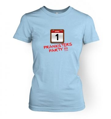 Pranksters Party  womens t-shirt