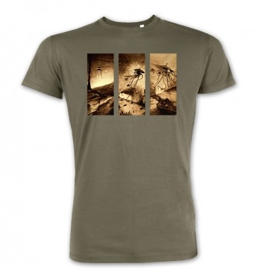 Triptych War Of The Worlds t-shirt (premium)