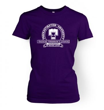 Procrastination University women's t-shirt