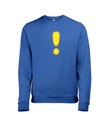 Quest Exclamation Mark heather sweatshirt