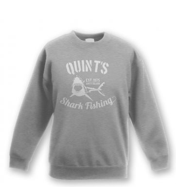 Quint's Shark Fishing kids' sweatshirt