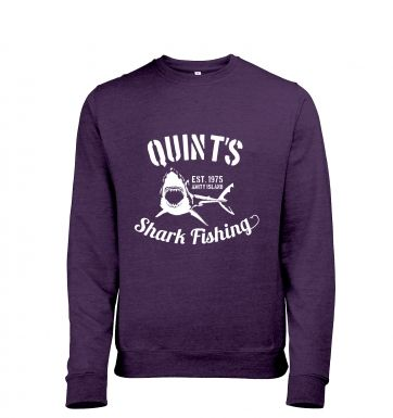 Quint's Shark Fishing heather sweatshirt