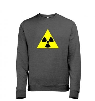Radioactive Symbol heather sweatshirt