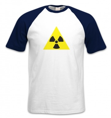 Radioactive Symbol short-sleeved baseball t-shirt
