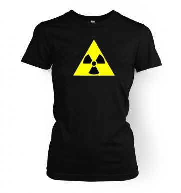 Radioactive Symbol women's t-shirt