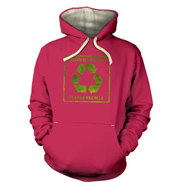 Please Recycle hoodie (premium)