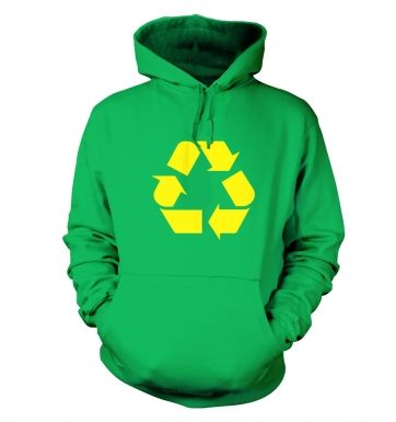 Yellow Recycling Symbol hoodie