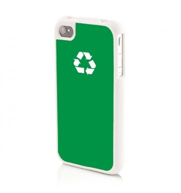 Recycling WHITE - iPhone 4/4s Phone case