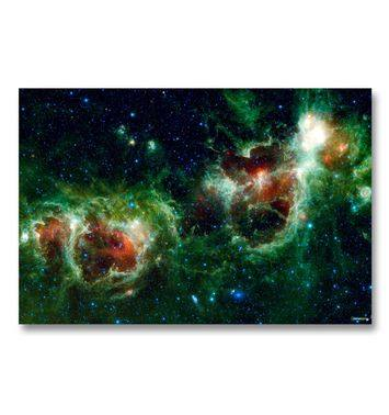 Red And Green Nebula gaming mat