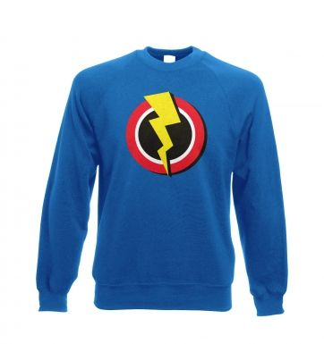 Red and Yellow Flash Symbol - Adult Crewneck Sweatshirt