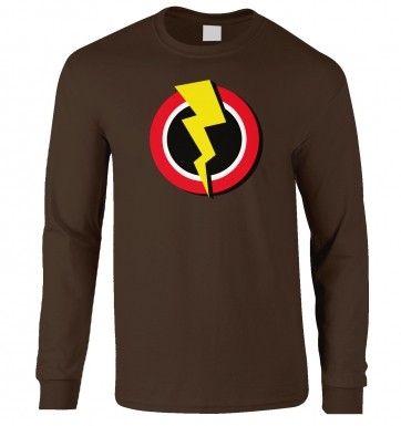 Red And Yellow Flash Symbol long-sleeved t-shirt