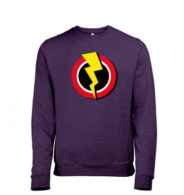 Red and Yellow Flash Symbol - Mens Heather Sweatshirt