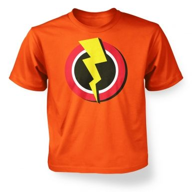 Red and Yellow Flash Symbol   kids t-shirt