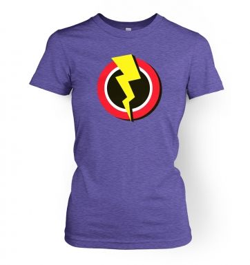 Red and Yellow Flash Symbol   womens t-shirt