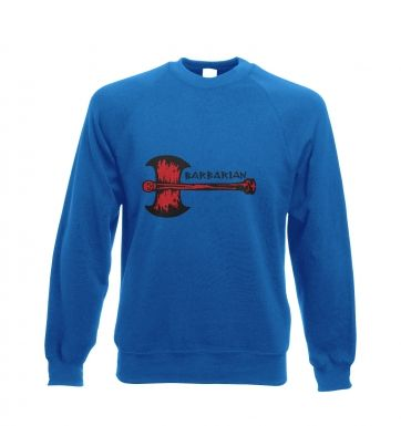 Red Barbarian Axe crewneck sweatshirt
