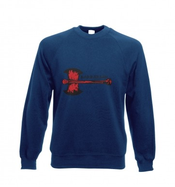 Red Barbarian Axe sweatshirt