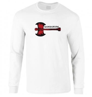 Red Barbarian Axe long-sleeved t-shirt