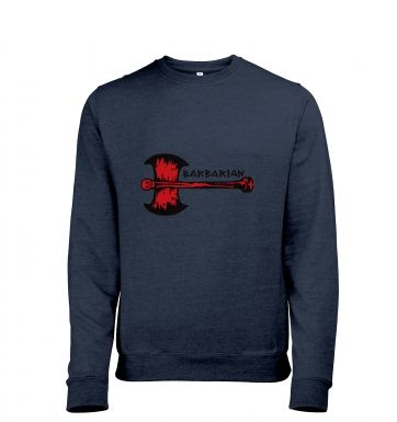 Red Barbarian Axe men's heather sweatshirt